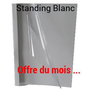 Couverture Préencollée Standing Blanc - Recto Brillant<br/>Offre du Mois !