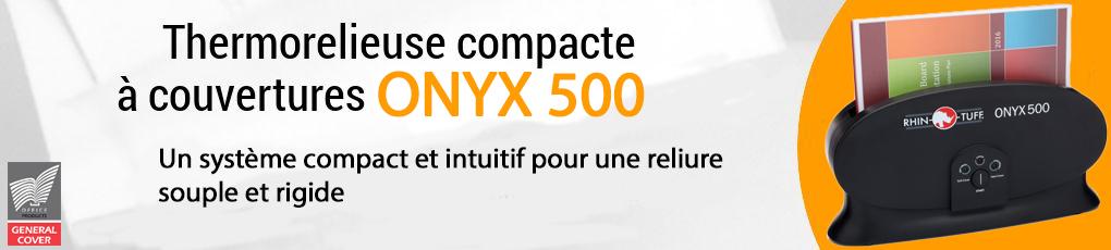 Thermorelieuse de bureau à couverture préencollée Onyx 500